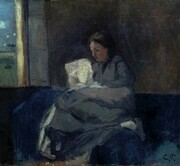 Woman reading: Camille Pissarro