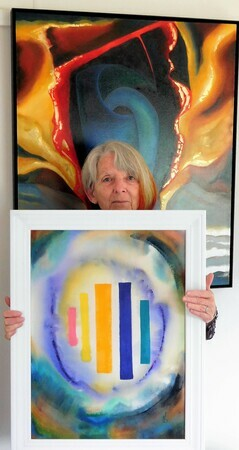 Judith with new works for Inspirations