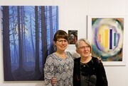 Megan and Judith with Emily Carr Inspirations