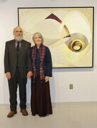 Geography VIII. Judith with Mike @ 2014 art exhibit