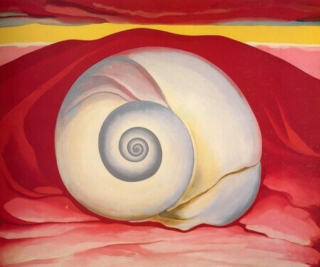Red Hill and White Shell: Georgia O Keeffe